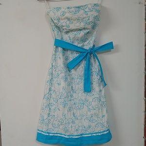 sz9 Sweetly classic embroidered tea / picnic dress